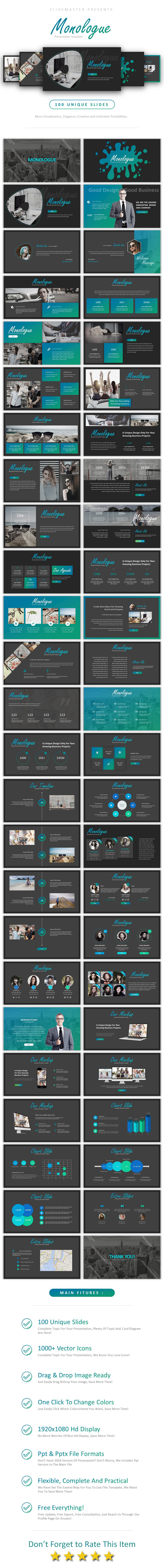 GraphicRiver Monologue Powerpoint 20822521