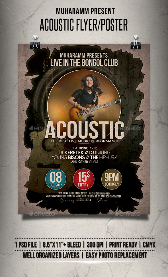 GraphicRiver Acoustic Flyer Poster 20822531