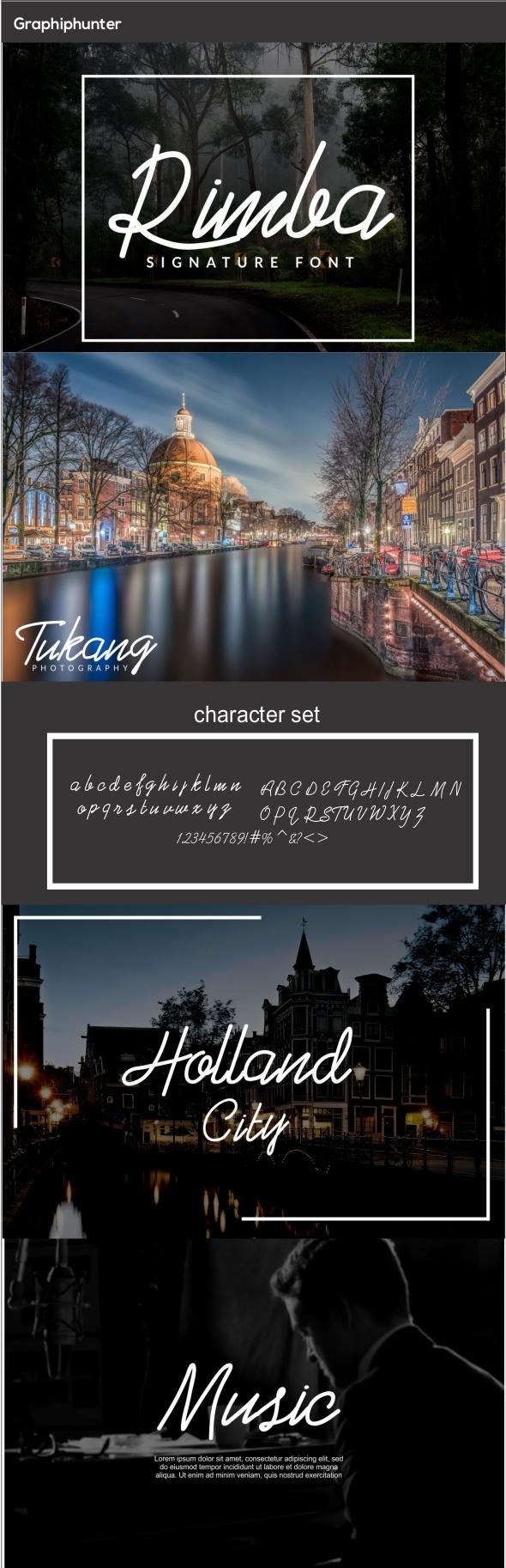 GraphicRiver Rimba Signature Font 20822548