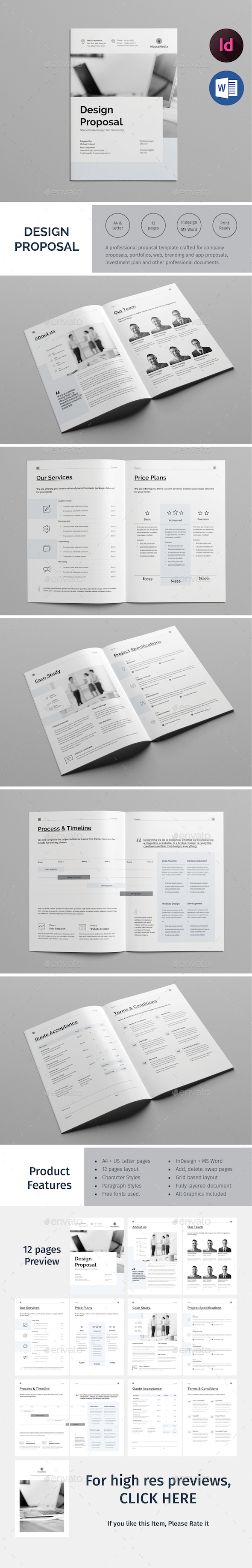 Design Proposal Template - Proposals & Invoices Stationery