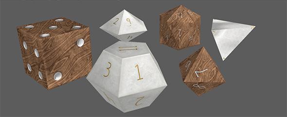 Custom Dice Set - 3DOcean Item for Sale