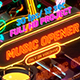 Music Opener Neon Style/ Music Award/ Old Music Boombox/ Radio Show/ Speakers and Bass - VideoHive Item for Sale
