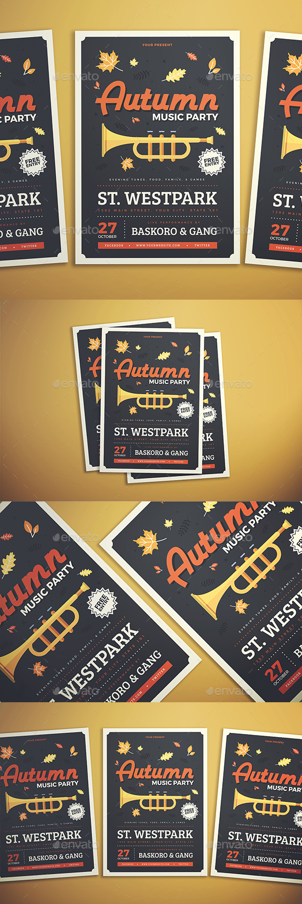GraphicRiver Autumn Party Flyer 20822931