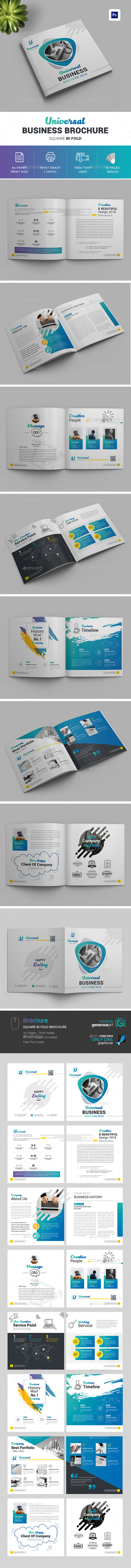 GraphicRiver 2018 Square Bi-Fold Brochure 20822990