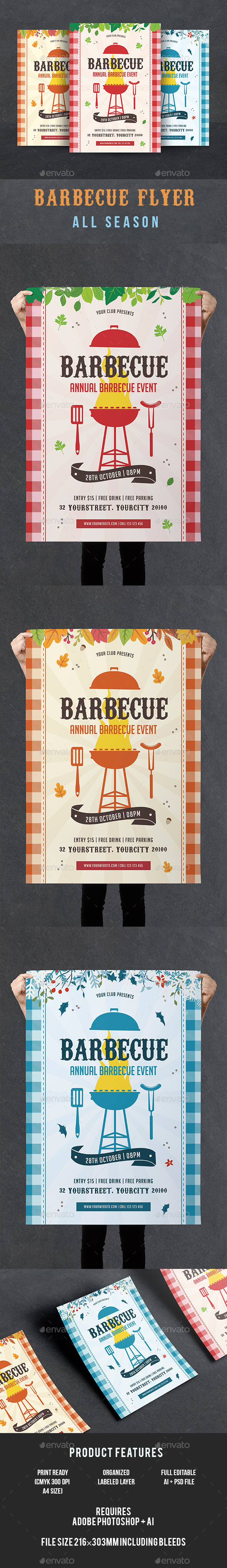 GraphicRiver BBQ Flyer 20823024