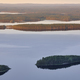 Finnish landscape at sunset. Lake Pielinien. Koli viewpoint. Finland scenic - PhotoDune Item for Sale