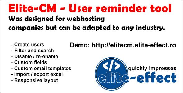 Elite-CM - User reminder tool (v.2.1) - CodeCanyon Item for Sale