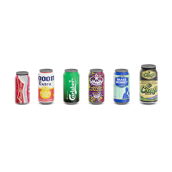 Beer Cans - 3DOcean Item for Sale