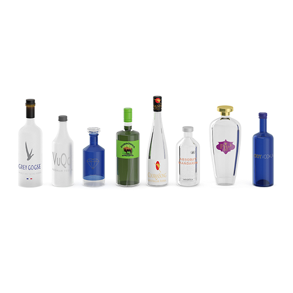 Liquor Bottles - 3DOcean Item for Sale