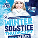 Winter Solstice Flyer Template V4 - GraphicRiver Item for Sale