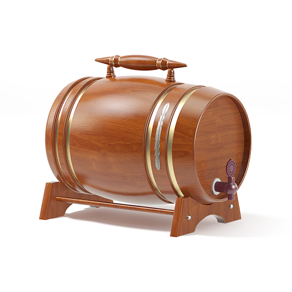Wooden Keg - 3DOcean Item for Sale