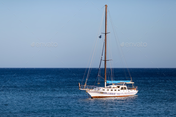 Yacht on the sea - Stock Photo - Images