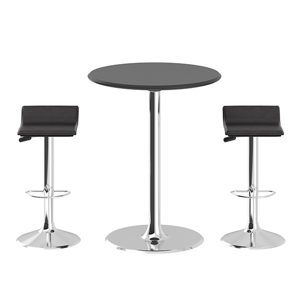 3DOcean Bar Table with Stools 20823209