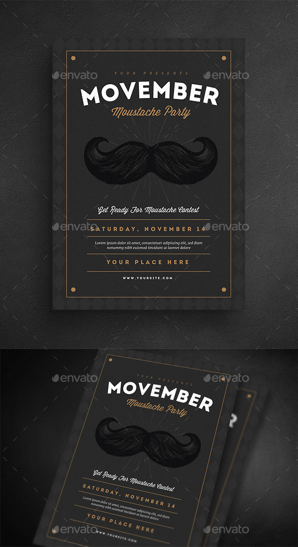 GraphicRiver Movember Event Flyer 20823270