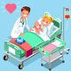 Doctor and Baby Medical Isometric People - GraphicRiver Item for Sale