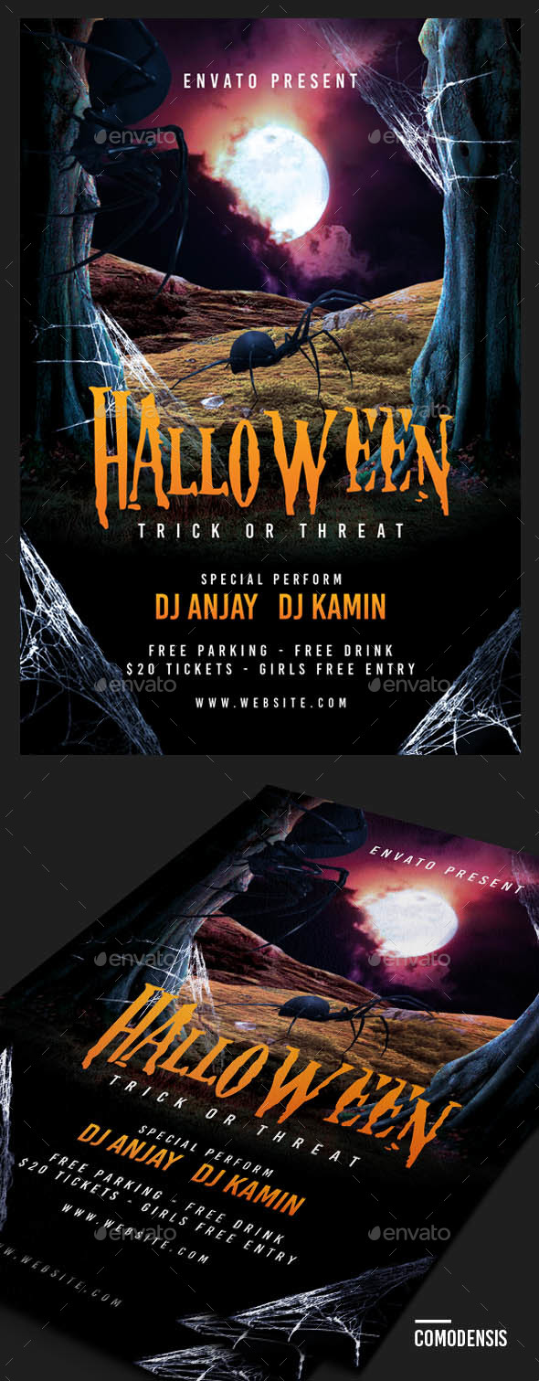 GraphicRiver Halloween Flyer Party 20823395