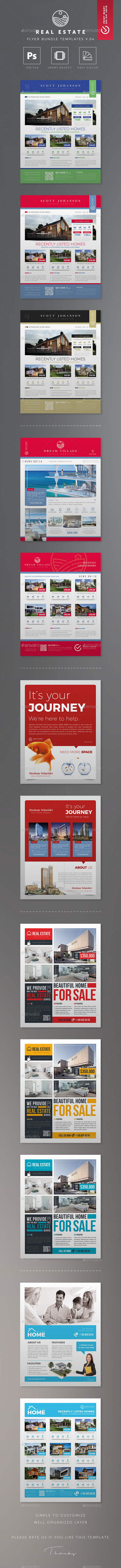 GraphicRiver Real Estate Flyer Bundle Templates v.04 20823421