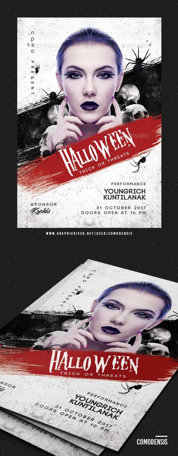 Dj Halloween Flyer Party - Clubs & Parties Events