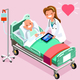 Therapist and Elderly Patient Isometric People Vector - GraphicRiver Item for Sale