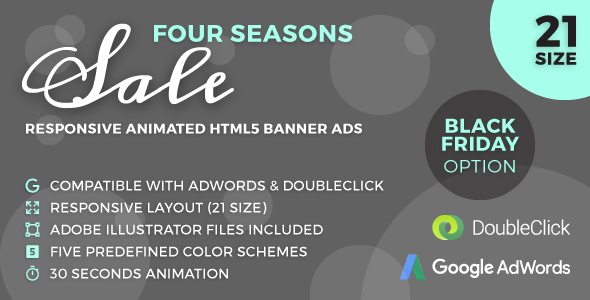 CodeCanyon Four Seasons Sale Responsive Animated HTML5 Banner Ads GWD 20823487
