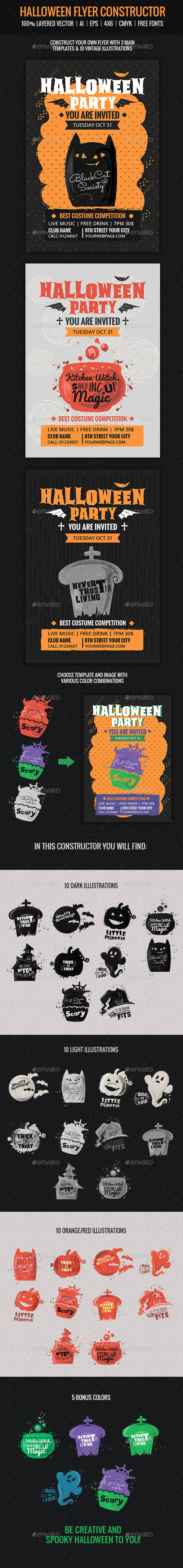 Halloween Flyer Constructor - Holidays Events