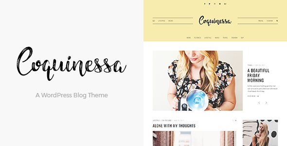 Image of Coquinessa - A WordPress Blog Theme