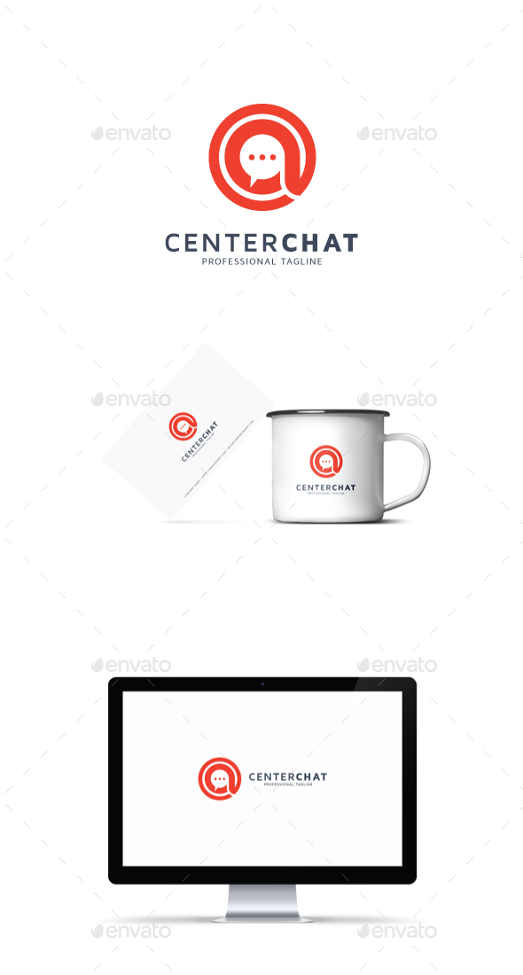 GraphicRiver Center Chat Logo 20823679