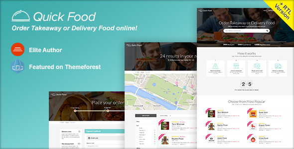 QuickFood - Delivery or Takeaway Food Template - Food Retail