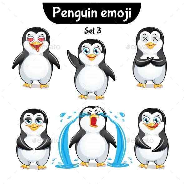 Vector Set of Penguin Characters. Set 3 - Miscellaneous Vectors