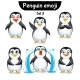 Vector Set of Penguin Characters. Set 3