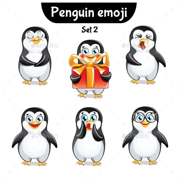Vector Set of Penguin Characters. Set 2 - Miscellaneous Vectors