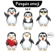 Vector Set of Penguin Characters. Set 4