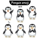 Vector Set of Penguin Characters. Set 5