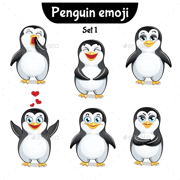 Vector Set of Penguin Characters. Set 1 - Miscellaneous Vectors