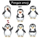 Vector Set of Penguin Characters. Set 1 - GraphicRiver Item for Sale