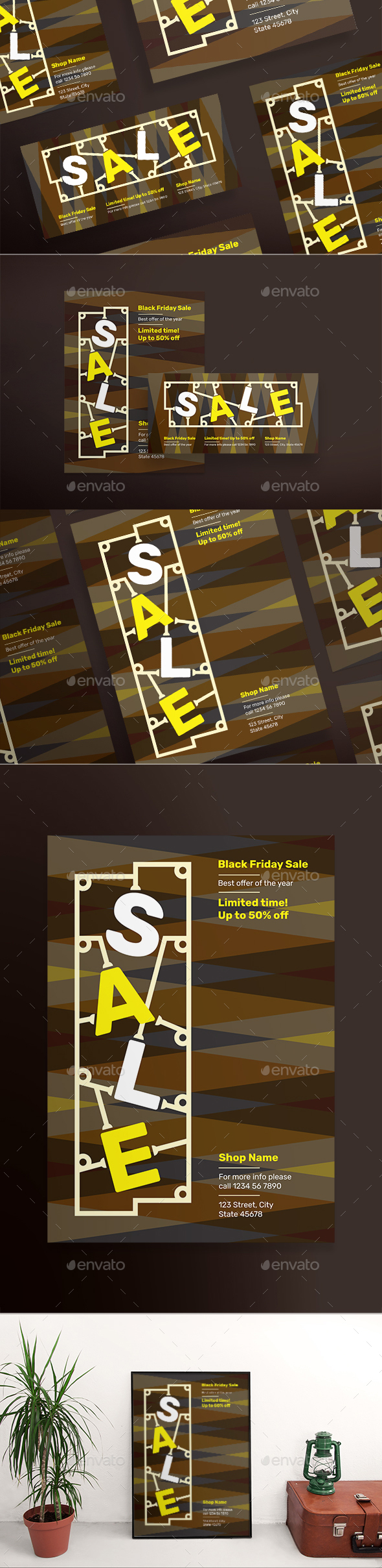 GraphicRiver Black Friday Flyers 20823784