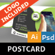 Smart Phone Postcard - GraphicRiver Item for Sale