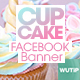 20 Facebook Post Banner - Cupcake - GraphicRiver Item for Sale