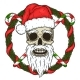 Skull of Santa Claus Background