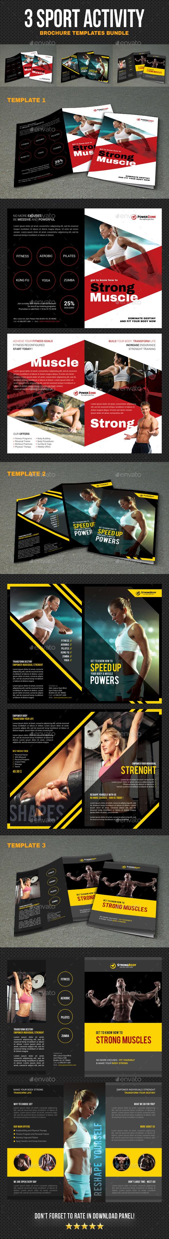 Sport Activity Brochure Bundle - Brochures Print Templates