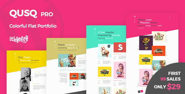 Image of Qusq Pro - Flat Colorful Portfolio
