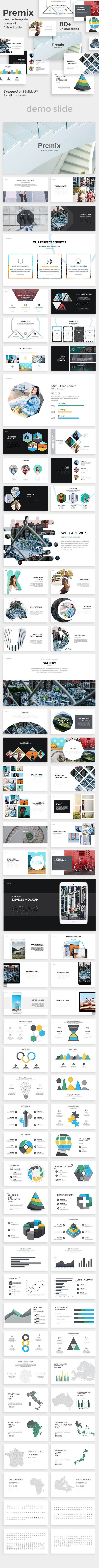 GraphicRiver Premix Creative Google Slide Template 20823989