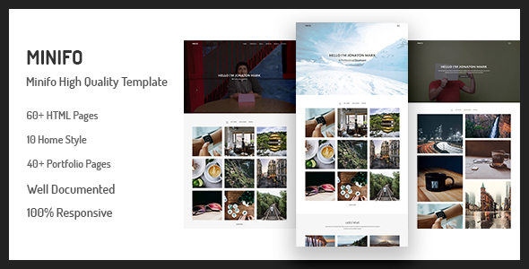Download Free Minifo - Minimal Portfolio HTML Template