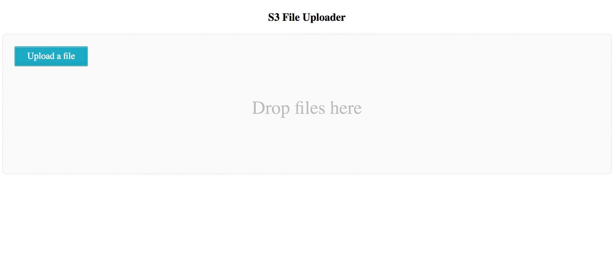 S3 File Uploader - Simply Drag and Drop Your Files To Upload Into The Cloud