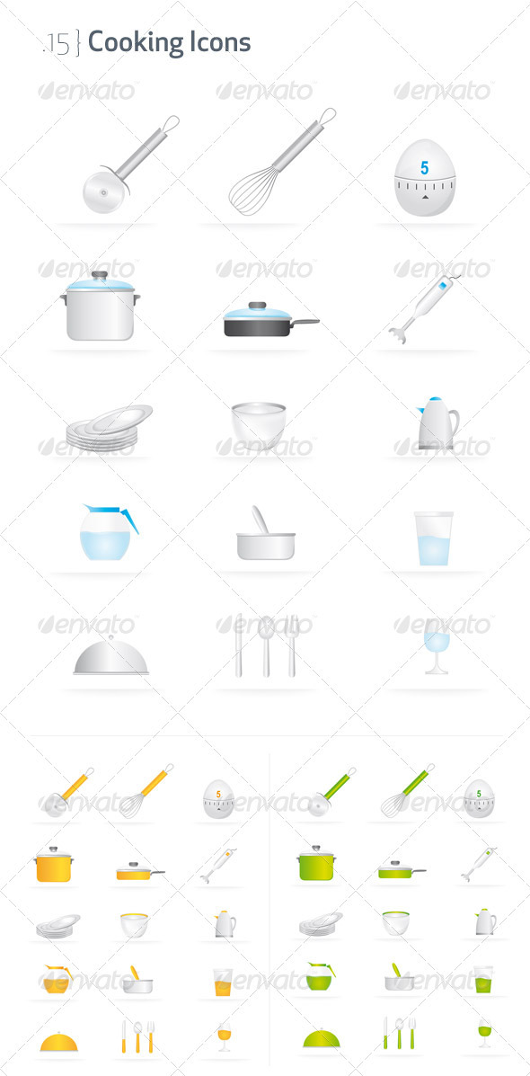 Cooking Icons  - Objects Vectors