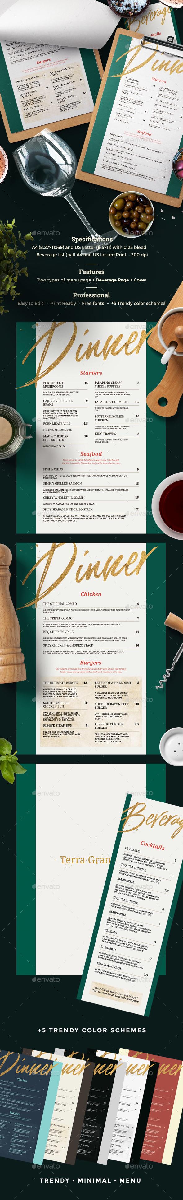 GraphicRiver Restaurant Menu 20824287