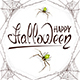 Text Happy Halloween in Spiderweb