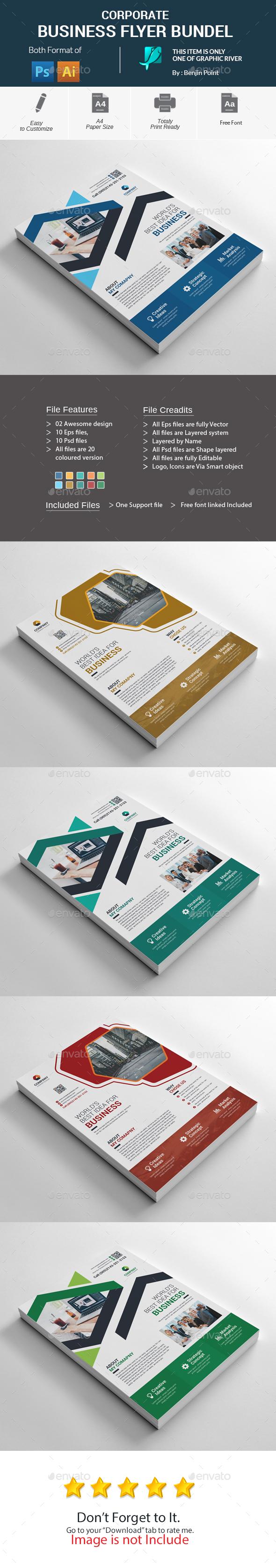 GraphicRiver Corporate Business Flyer Bundle 20824336