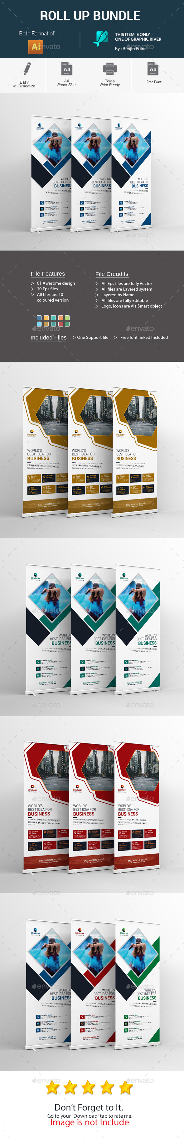 GraphicRiver Roll Up Bundle 20824349