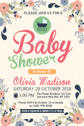 Baby Shower Template - Vol. 17